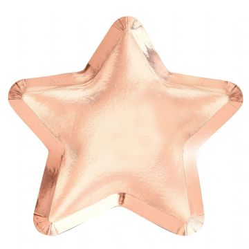 Twinkle Twinkle Little Star Baby Shower Rose Gold Star Shaped Paper Plates